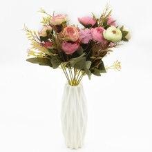 Искусственная Роза Шелковый цветок 30 см 6 головок 5 вилок свадебные