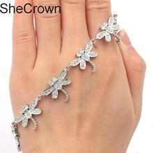 Stunning Dragonfly White Sapphire White CZ Ladies Wedding Silver  Bracelet 7.5-8.0in  26x16mm