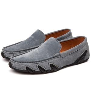 Image 4 - Без шнуровки на осень; Повседневная мужская кожаная обувь, мокасины Homme женская обувь на плоской подошве женские лоферы без застежки; Женские туфли лодочки с вождения мокасины 2020 Новинка; Лидер продаж по доступной цене