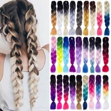 Kong & Li 100G 120 kolory włosy syntetyczne do warkoczy rozszerzenia Ombre warkocz Jumbo Pre rozciągnięty hurtownie 24 Cal Box Twist warkocze