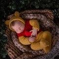 Одежда для новорожденных реквизит для фотосессии, мохеровая одежда ручной работы с медведем для детей реквизит для фотосессии - фото
