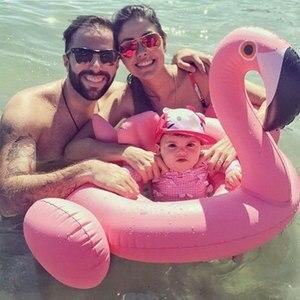 Juego de piscina inflable con flamencos para niños y niñas, asiento de seguridad para piscina, divertido, para verano
