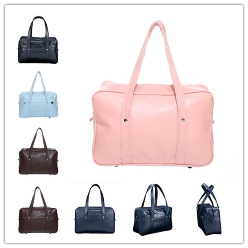 Fashion Hot Sale Simple Japanese Student Handbag PU Uniform Bag Male And Female JK Commuting Briefcase Student Bag