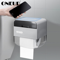 ONEUP Portable Toilet Paper Holder Plastic Double Layer Tissue Box Home Waterproof Storage Rack With Drawer Toilet Roll Holder|Portable Toilet Paper Holders| |  -