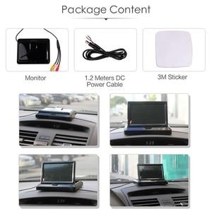 Image 3 - HD 5 дюймов 800*480 TFT LCD Складной автомобильный монитор для парковки задним ходом и 12 камера заднего вида со светодиодной подсветкой