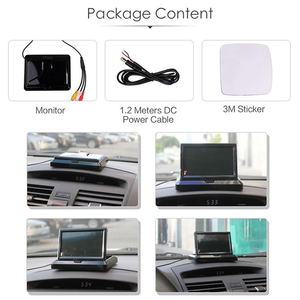 Image 3 - HD 5 Inch 800*480 TFT LCD Foldable Car Monitor Reverse Parking And 12 LED Rear View Camera