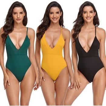 GRT Fitness Women-Solid-Yellow-One-Piece-Swimwear-Mossha-Swimwear-Women-2020-Swimsuit-Female-Extreme-Monokini-High-Cut.jpg_350x350 Women Solid Yellow One Piece Swimwear Swimwear Women 2020 Swimsuit Female Extreme Monokini High Cut Sexy Bathing Suit