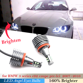 Light Angel eyes bulb For BMW 3 5 1 X Z Series E92 Coupe Pre-LCI E60 E71 E90 E93 E70 87 88 E 82 89 81 M3 Headlight LED 160W pair image