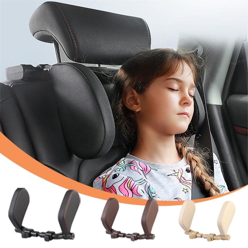 سيارة مسند الرأس بالمقعد وسادة مخدة لدعم الرقبة لسيارة النوم الجانب داعم رأس عالية مطاطا نايلون تلسكوبي دعم الجانب الاطفال