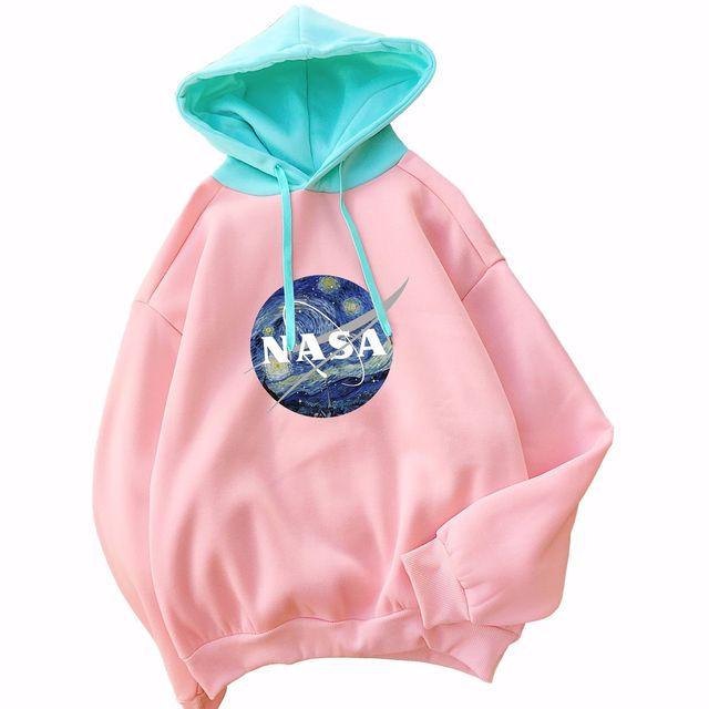 Brand-NASA Loose-Fit Hoodie