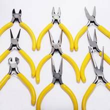 Takı pense araçları ve ekipmanları kiti uzun iğne yuvarlak burun kesme tel pense takı yapımı için DIY aracı aksesuarları