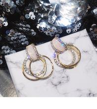 Для женщин серьги большие кольца для ушей с геометрическим рисунком
