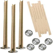20 piezas de 5 pulgadas cruz de madera mechas para velas de madera velas Core para DIY fabricación de velas de soja Parffin cera
