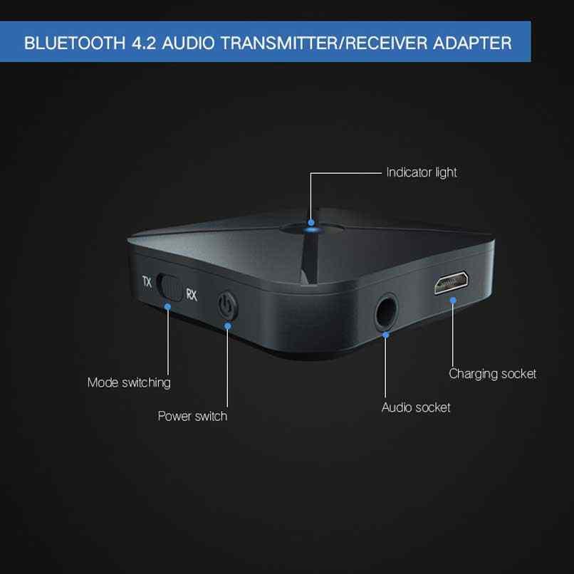 ONLENY 2 w 1 prawdziwe Stereo Bluetooth 4.2 odbiornik nadajnik bezprzewodowy Adapter Audio z 3.5MM AUX dla domu telewizor z dostępem do kanałów MP3 PC