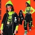 Kids Performance Hip Hop dancing Outfits Crop Tops Street wear Cargo Pants Girls Boys Jazz Dance Wear Costumes Concert Outfits