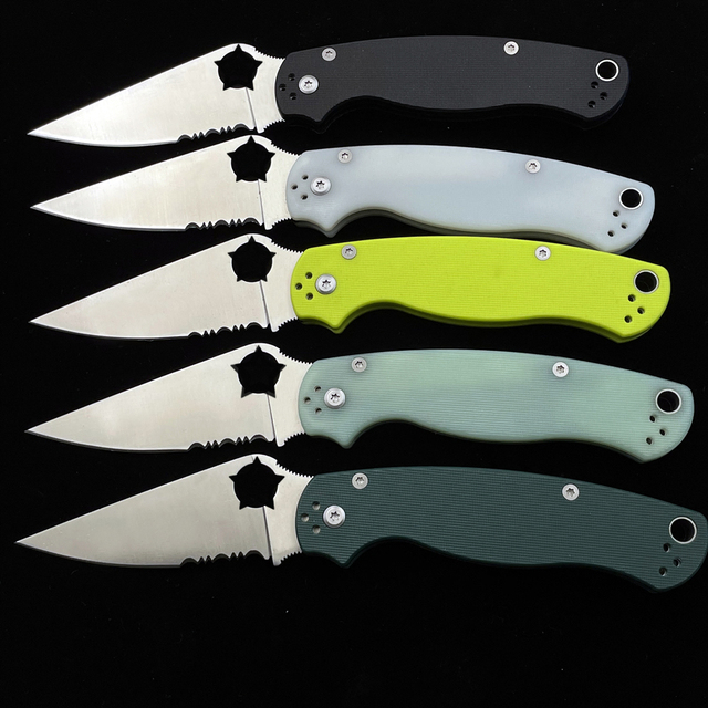 OIMG SPY PARA 2 C81 C10 C28 Folding Knife Outdoor Camping Hunting Pocket Kitchen Fruit EDC KNIVES 3