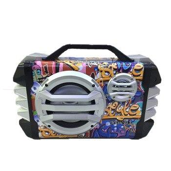 New Bluetooth speaker wireless microphone radio shoulder belt portable outdoor subwoofer outdoor square dance sound Home audio