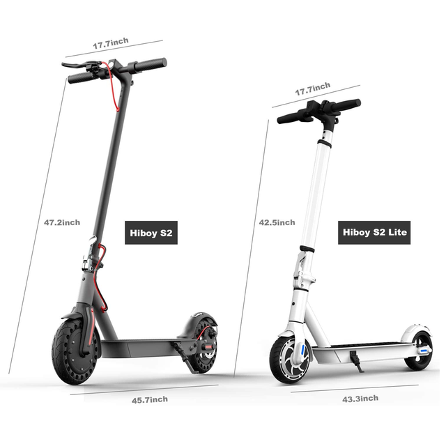 """Hiboy S2 Lite Electric Scooter 6.5"""" Solid Tires 10.6 Miles Long Range 13 MPH Folding Kick-Start Boost Scooters for Teens Adults 5"""