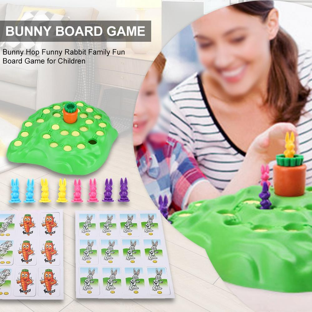 Children Board Game Bunny Hop Funny Rabbit Family Fun Board Game for Children Novelty Children's outdoor sports toy tools(China)