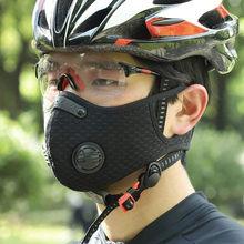 Masque De vélo Cyclisme Masque Respirador Con 4 Filtros Y 4 Válvulas De S'échapper, Máscara Par Ciclismo Cara De Ciclista, Masque