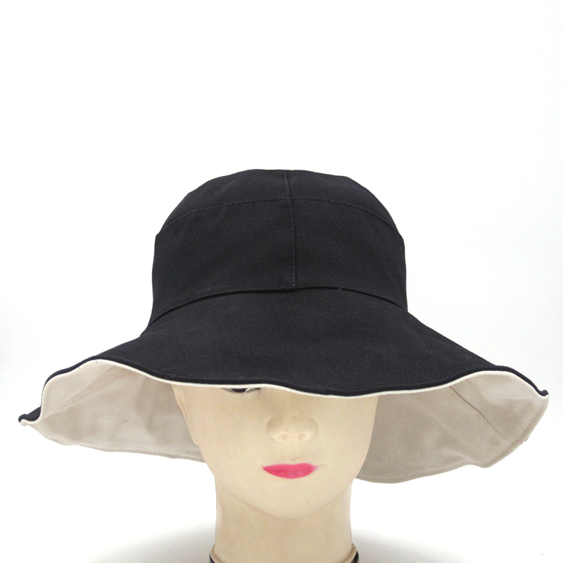 Trendy Ladies Hat 2019 New Spring Summer And Autumn Two Color Matching Cotton Fashion Pop Hat Female Classic Temperament Caps in Women 39 s Sun Hats from Apparel Accessories