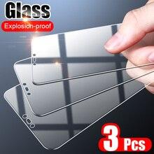 ZNP 3PCS Full COVER กระจกนิรภัยบนสำหรับ Huawei P30 Pro P20 P40 Lite ป้องกันหน้าจอ Huawei honor 20 30 30S ฟิล์มแก้ว
