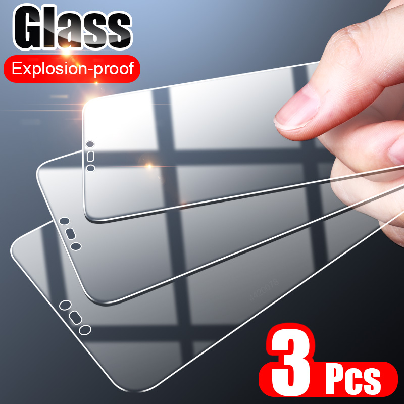 ZNP 3PCS Full Cover Tempered Glass On the For Huawei P30 Pro P20 P40 Lite Screen Protector On Huawei Honor 20 30 30S Glass Film(China)
