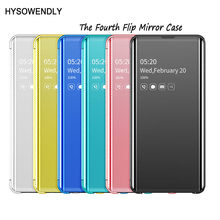 HYSOWENDLY Luxury Flip Mirror Phone Case for Samsung Galaxy S7edge S8 S9 S10 Plus S10 Lite Leather Cover for Galaxy Note 8 9 10+(China)