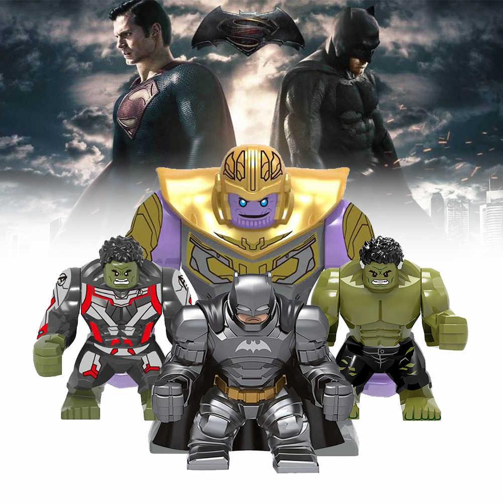 פעולה איור גדול גדול סופר גיבורי אנטי האלק תאנסו Ironman באטמן ביין Deadpool אבן בניין צעצועי DIY עבור childre
