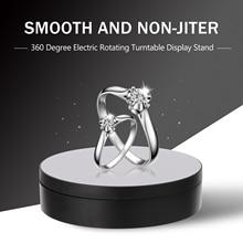 Регулируемая скорость Вращающийся дисплей Стенд 360 градусов Электрический вращающийся продукт дисплей поворотный стол для модели ювелирных часов Дисплей
