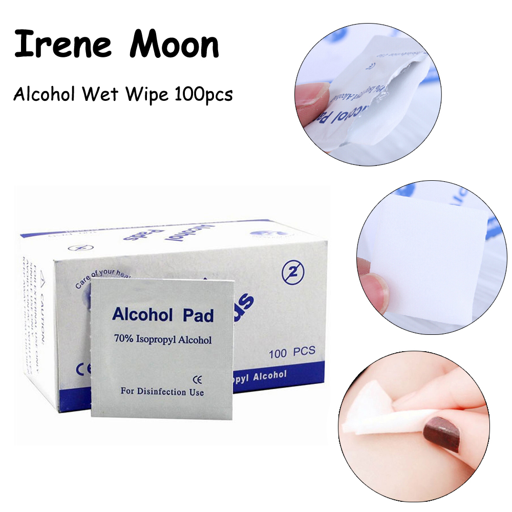 Portable 100pcs Alcohol Swab Pads Prep  Wipes Antiseptic Cleanser Cleaning Alcohol Wipes Sterilization Alcohol Pad First Aid