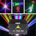 ILDA+DMX512 10 watt SD card ILDA laser logo projector rgb animation text laser light show for disco