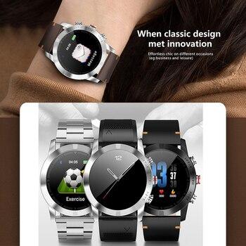 New Bluetooth 4.2 Smart Watch IP68 Waterproof Heart Rate Tracker Fitness Sleep Tracker Sedentary Reminder Compass Smartwatch Men