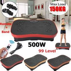 150 KG/330lb ejercicio Fitness Delgado vibración máquina entrenador Placa de cuerpo de la plataforma moldeador con bandas de resistencia