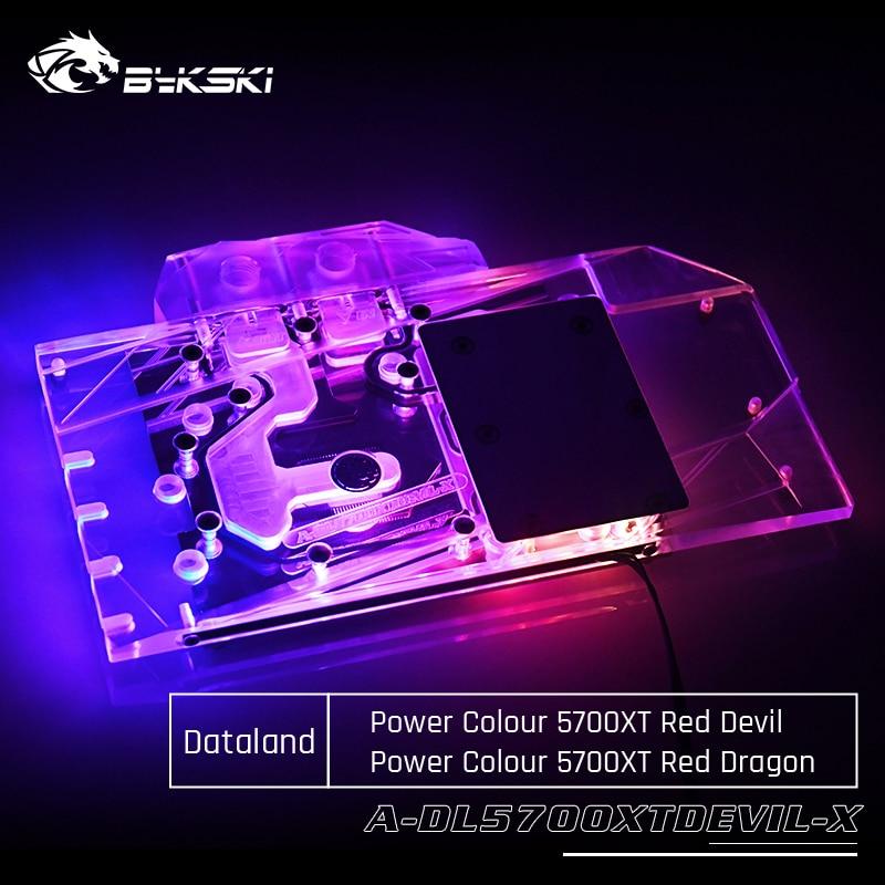 Bykski A-DL5700XTDEVIL-X GPU Water Cooling Block For Dataland Power Colour 5700XT Red Devil Computer Component Heat Dissipation