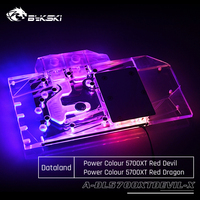 Bykski A DL5700XTDEVIL X GPU Water Cooling Block For Dataland Power Colour 5700XT Red Devil Computer Component Heat Dissipation