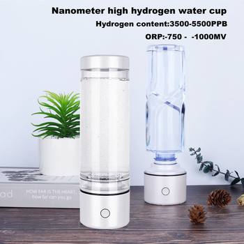 H2 Nano Alkaline Generator ORP Drink Water Bottle Electrolysis Ionizer Pure Hydrogen Gas Ventilator IHOOOH Anti Aging Products hydrogen rich generator 500ml electrolysis water bottle alkaline drink pure h2 ionizer anti aging product rechargeable glass cup