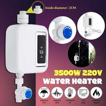 Water Heater 3500W Electric Water Heater LCD Display Kitchen Home Digital Instant Water Heater Control Temperature
