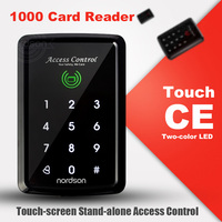 Nordson Original Touch-screen Leitor de Cartão RFID Teclado de Controle de Acesso Porta Standalone WG Para Elétrica Trava Exit Botão da Campainha