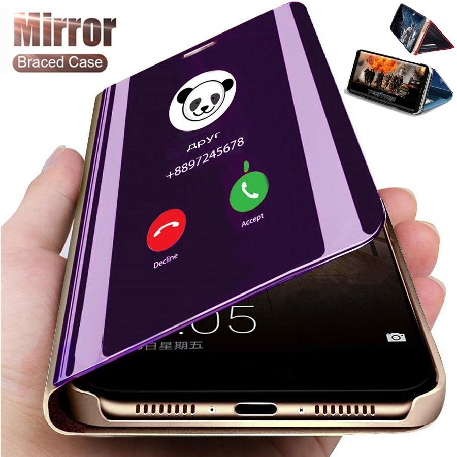 Роскошный умный зеркальный флип-чехол для телефона XiaoMi RedMi Note 5 6 7 8 9 9S K20 K30 Pro MAX 9A 9C 6A 10X 8T, защитная задняя крышка