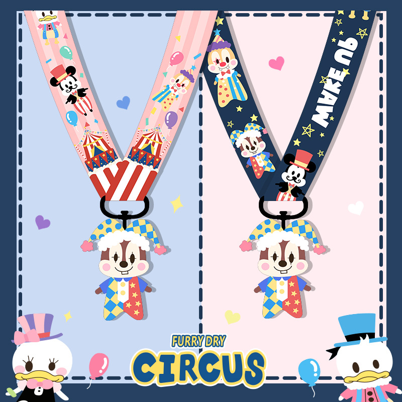 Cute Cartoon Chip 'n' Dale Circus Neck Strap Lanyard For Women Keys ID Card Gym Phone Case Straps USB Badge Holder Hang Rope