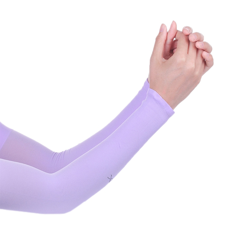 Cooling Athletic Sport Skins Arm Sleeves Gloves Sun Protection UV Cover Cycling