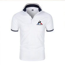New summer brand Polo shirt men's casual cotton men's short-sleeved men's sports travel + T-shirt