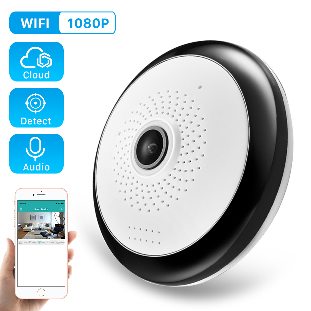 ANBIUX Mini Camera Icsee Wifi Fisheye Surveillance HD Home-Security Wireless VR 960P
