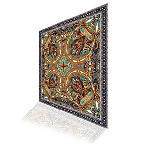 Квадратный игровой коврик в стиле ретро персидский ковер коврик для мыши крафтовый резиновый коврик для мыши 300*300 мм нескользящий коврик дл...