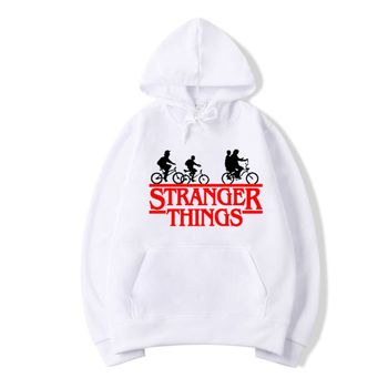 Stranger Things Hoodies Men Women Letters Print Autumn Harajuku Hip Hop Sweatshirt Man Fashion Winter Fleece Jumper Drop