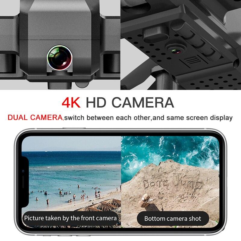 SG706 RC Drone 4K HD Двойная камера WIFI FPV складной беспилотник Профессиональный 50X Zoom Camera Quadcopter оптический поток Дрон VS M69G SG106