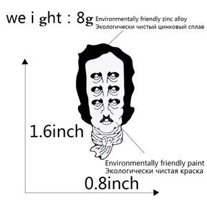 Абстракционизма Пикассо фигура эмаль шпильки черный белый минимализм ювелирные изделия несколько глаз Анатомическое Сердце Эмаль Броши Б...