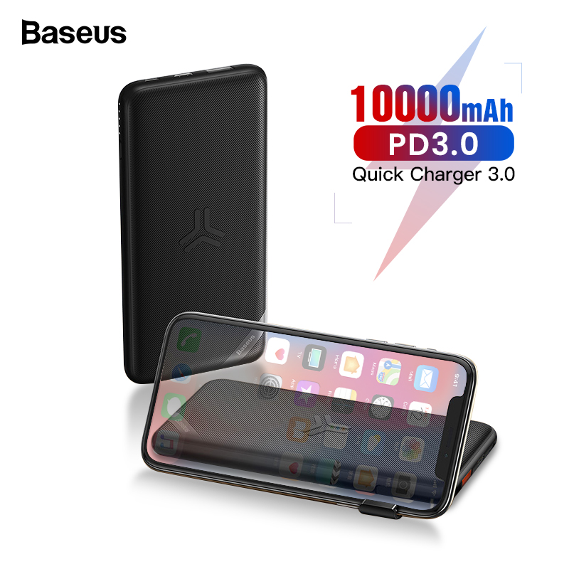 Baseus 10000mAh Qi Wireless Charger Power Bank Quick Charge 3.0 PD Powerbank For IPhone Xiaomi 10000 Portable External Battery