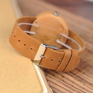 Image 5 - BOBO BIRD Round Bamboo Wooden Women Watch Fashion Ladies Quartz Wristwatch Wood Women Clock in Gift Box Custom Logo Dropshipping